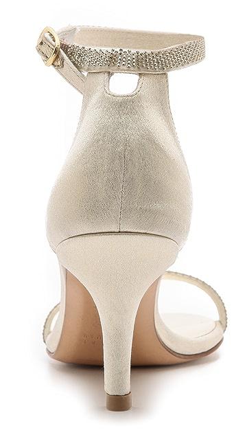 Stuart Weitzman Strobe Mid Heel Sandals