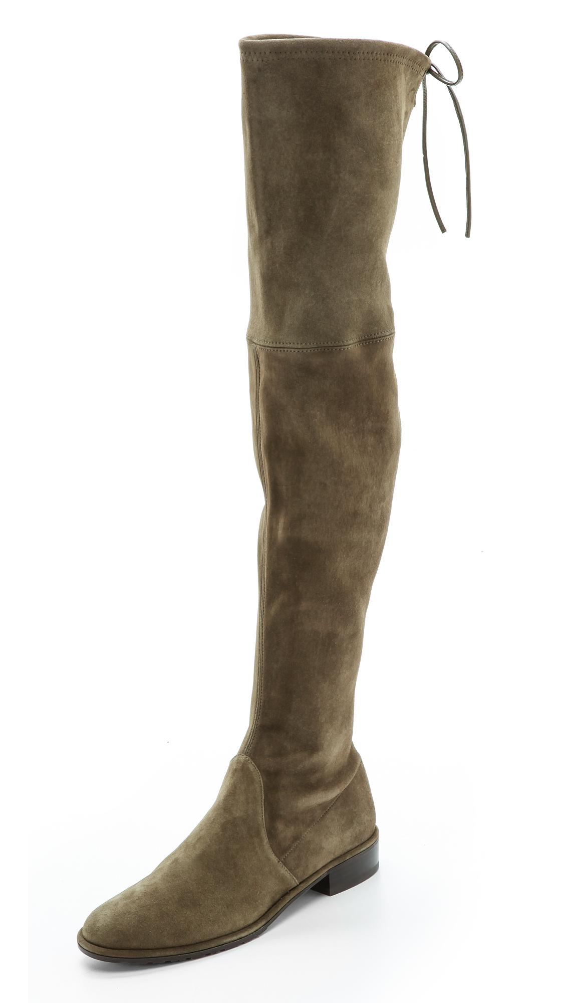 Stuart Weitzman Lowland Thigh High Flat Boots | SHOPBOP