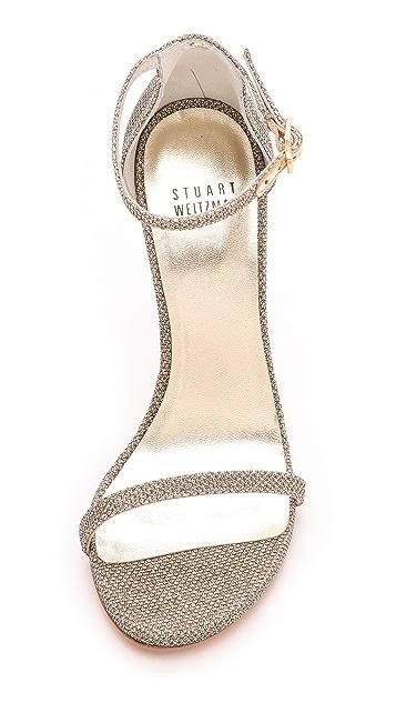Stuart Weitzman Nudist Single Band Sandals