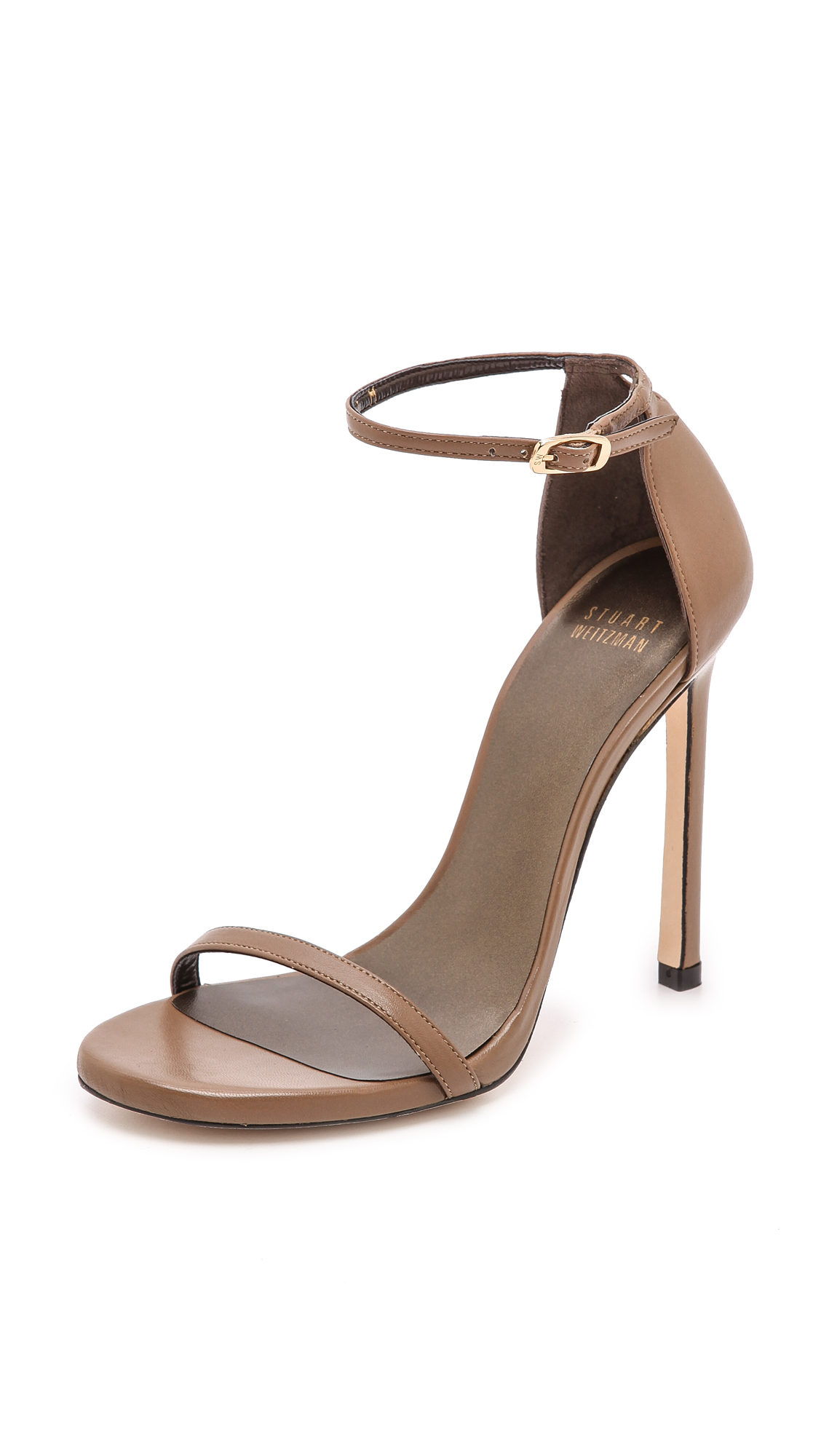 Stuart Weitzman Nudist 110mm Sandals - Truffle
