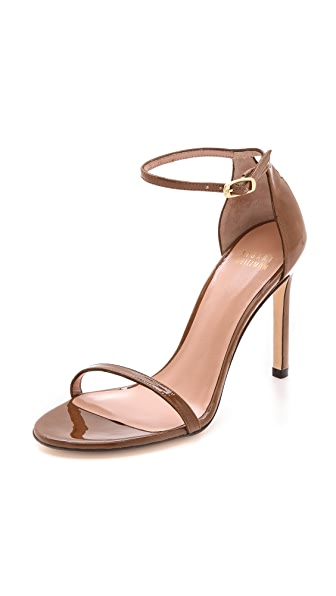 Stuart Weitzman Nudistsong 90mm Sandals - Tan