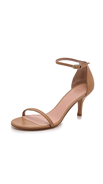 Stuart Weitzman Naked 65mm Sandals - Adobe