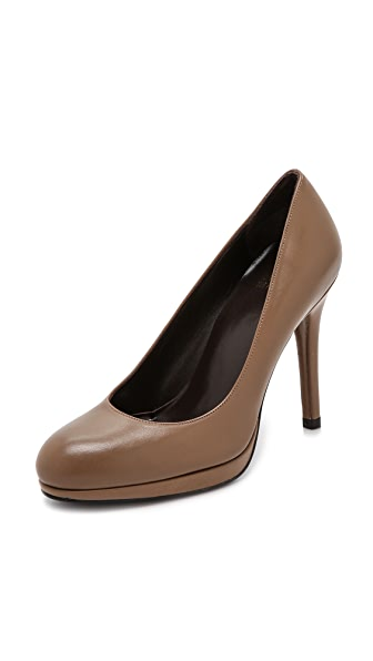 Stuart Weitzman Swoon 90mm Leather Pumps - Truffle