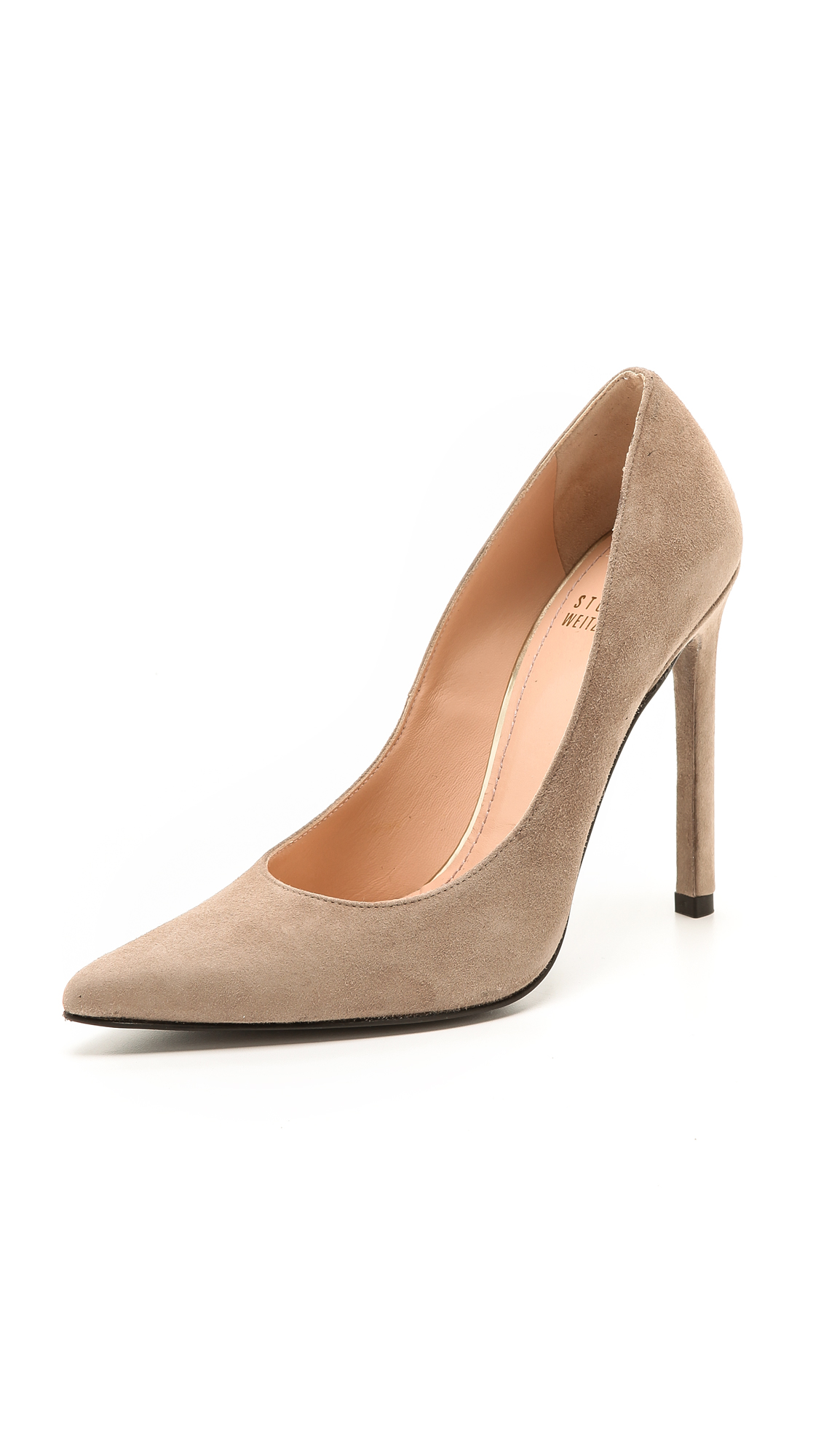 Stuart Weitzman Queen 110mm Suede Pumps - Haze
