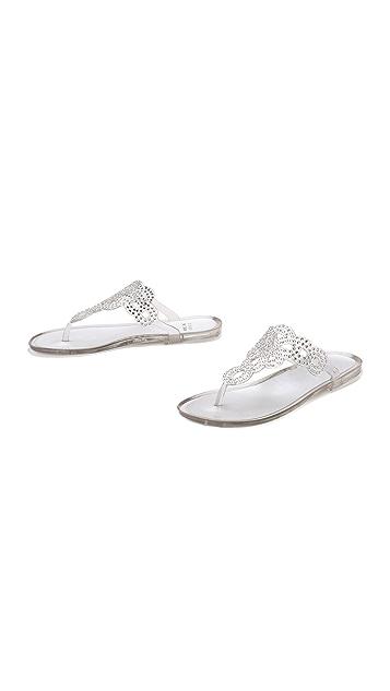 Stuart Weitzman Mermaid Jelly Thong Sandals