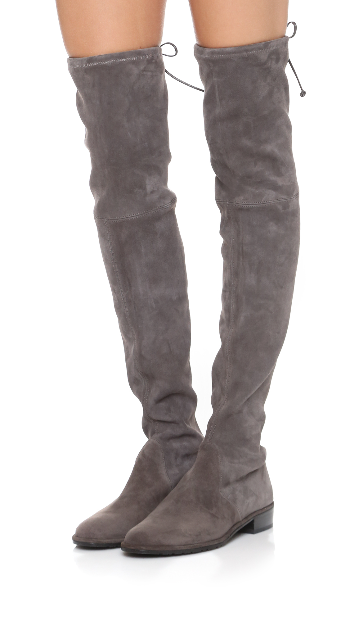 Stuart Weitzman Women's Lowland Stretch Suede Over-the-Knee Boots qn5HFQ9