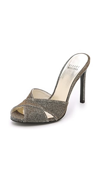 Shop Stuart Weitzman online and buy Stuart Weitzman Sarong Sandals Pyrite shoes online