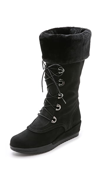 Stuart Weitzman Bigfoot Faux Fur Lined Boots
