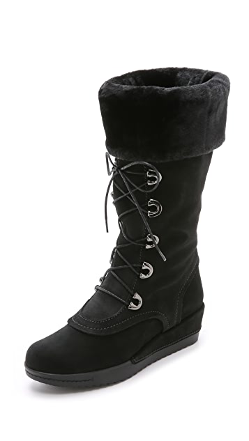 Stuart Weitzman Bigfoot Faux Fur Lined Boots