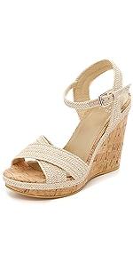 Minx Wedge Sandals                Stuart Weitzman