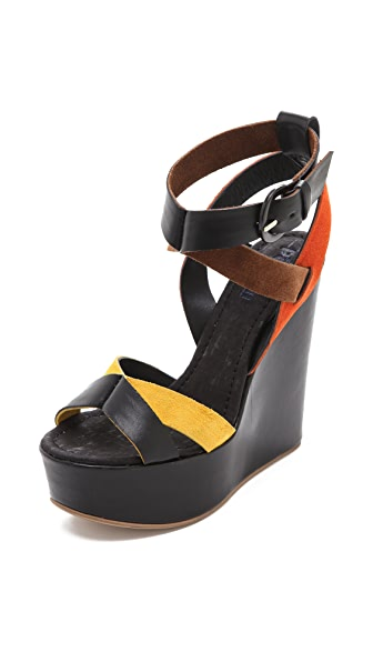 Studio Pollini Multicolor Wedge Sandals