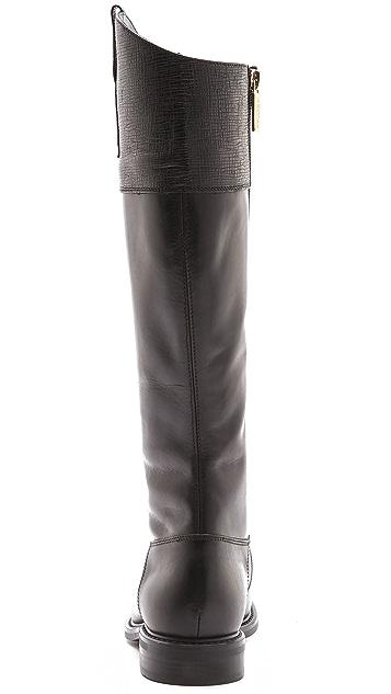 Studio Pollini Textured Cuff Riding Boots