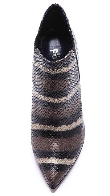 Studio Pollini Snake High Heel Booties