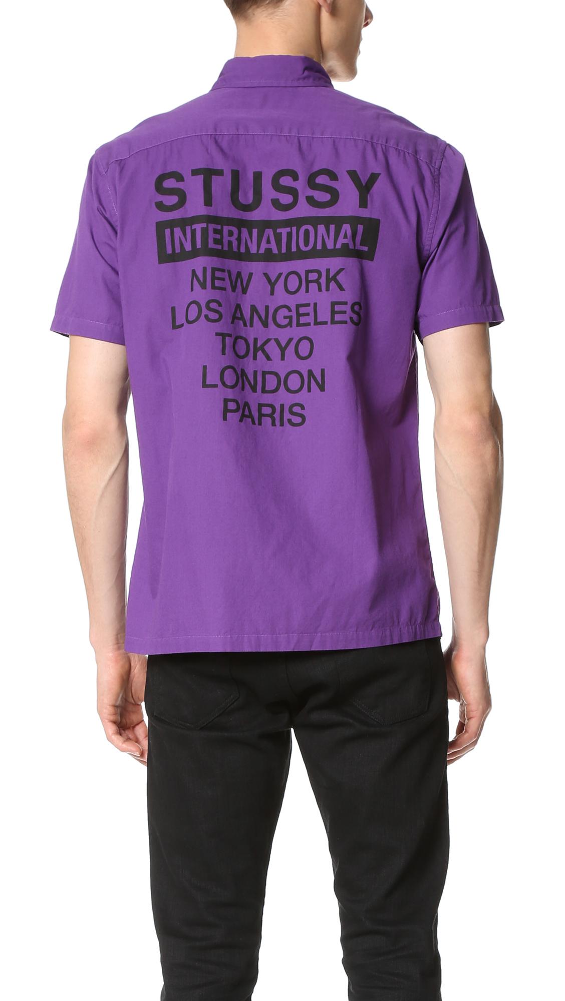 52c6141553 Stussy City Print Shirt   EAST DANE