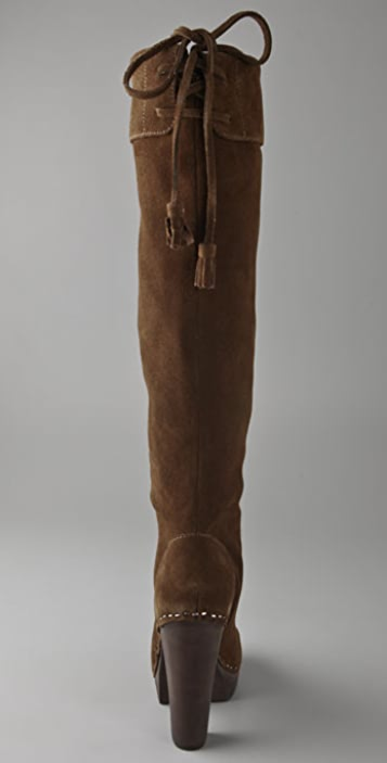Steven Gwenn Over the Knee Suede Boots