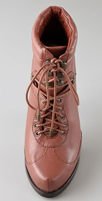 Steven Calah Lace Up Platform Booties