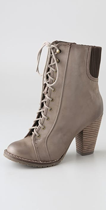 Steven Isolate Lace Up Booties