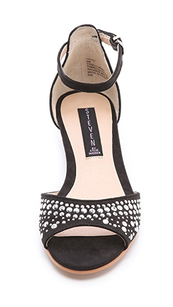 Steven Tippsy Faux Suede Sandals