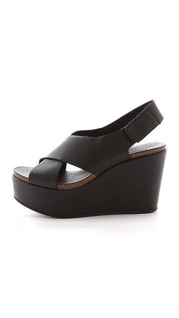 Steven Genesis Slingback Wedge Sandals