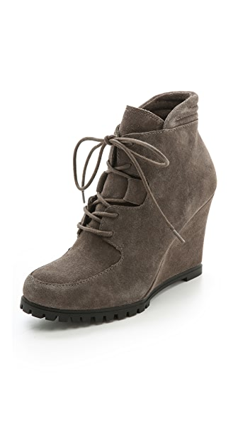 Steven Wardin Suede Wedge Booties