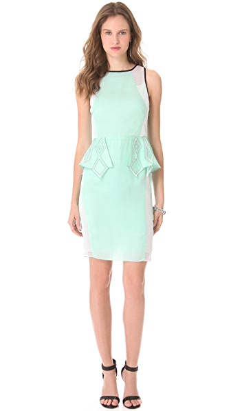 Suboo Take Me to Monaco Peplum Dress