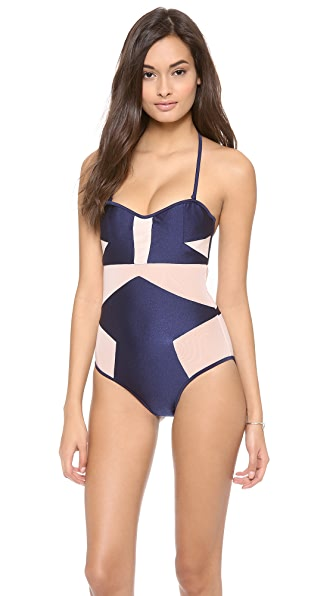 Suboo Mesh One Piece Swimsuit