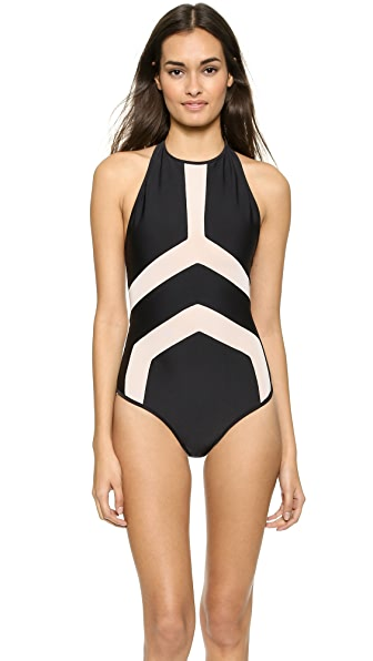 Suboo Halter Neck One Piece Swimsuit