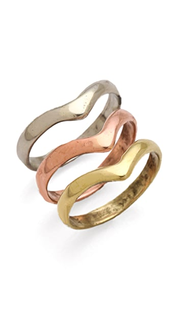 SunaharA Malibu Mid Knuckle Ring Set