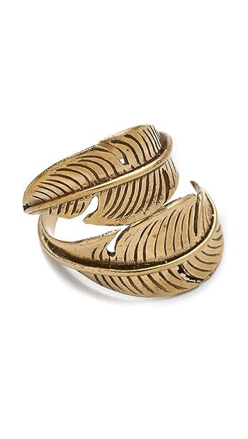SunaharA Malibu Feather Wrap Ring