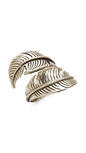 SunaharA Malibu Feather Wrap Ring