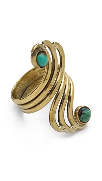SunaharA Malibu Turquoise Double Mid Knuckle Ring