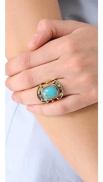 SunaharA Malibu Medium Stone Turquoise Wrap Ring