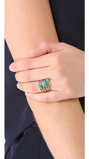 SunaharA Malibu Turquoise Stone Sonic Ring