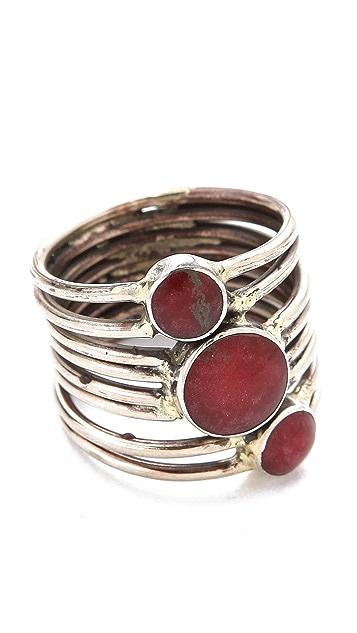 SunaharA Malibu Red Stone Sonic Ring