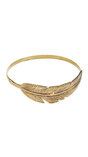 SunaharA Malibu Feather Wrap Bangle Bracelet