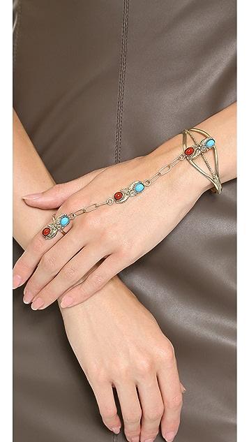 SunaharA Malibu Leaf Chain Gypsy Cuff