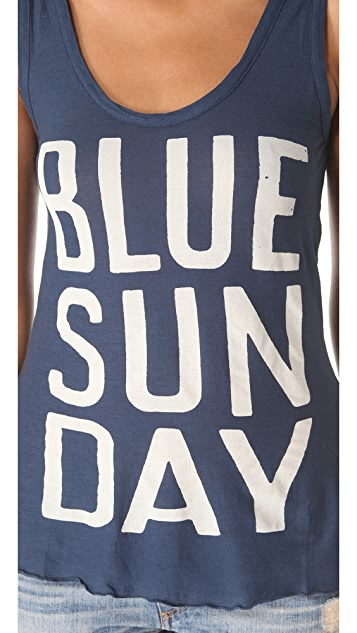 SUNDRY Blue Sunday Tank