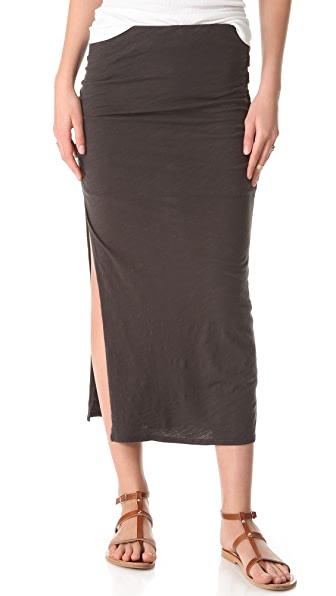 SUNDRY Ruched Skirt