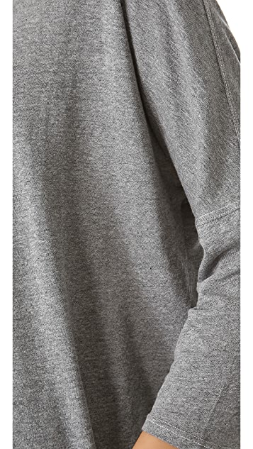 SUNDRY Slouchy 3/4 Sleeve Top