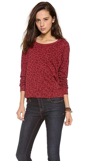 SUNDRY Leopard Classic Sweatshirt