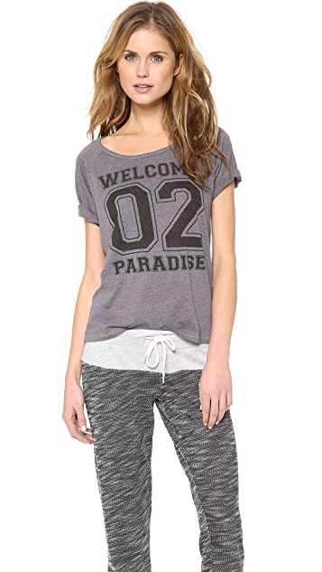 SUNDRY Welcome 2 Paradise Tee