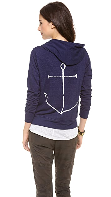 SUNDRY Anchor Zipper Hoodie