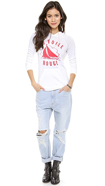 SUNDRY La Voile Rouge Pullover Hoodie