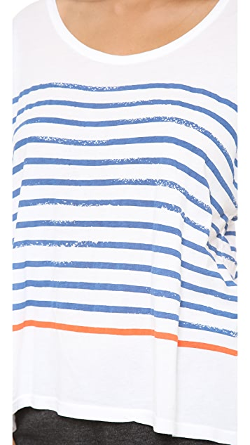 SUNDRY Stripe Square Tee