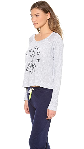 SUNDRY Anchor & Stars Sweatshirt