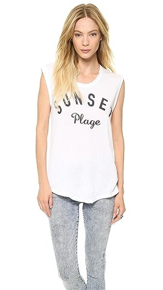 SUNDRY Sunset Plage Tee