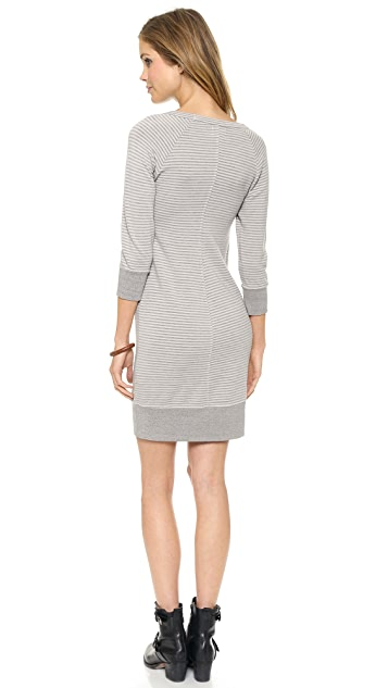 SUNDRY Stripes Sweatshirt Dress