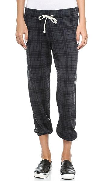 SUNDRY Plaid Sweatpants