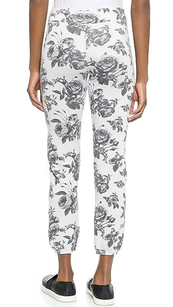 SUNDRY Floral Pattern Classic Sweatpants