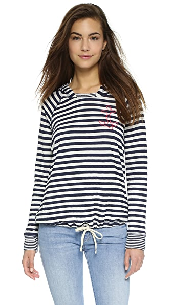 SUNDRY Little Anchor Tie Hoodie